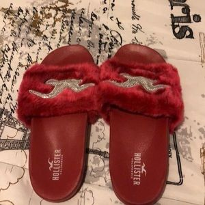 Hollister Fur Slides (Never Worn)